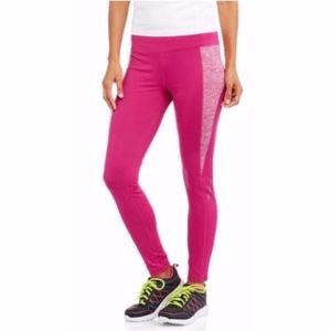 Danskin Now Magenta Quartz Fleece Lined Leggings M
